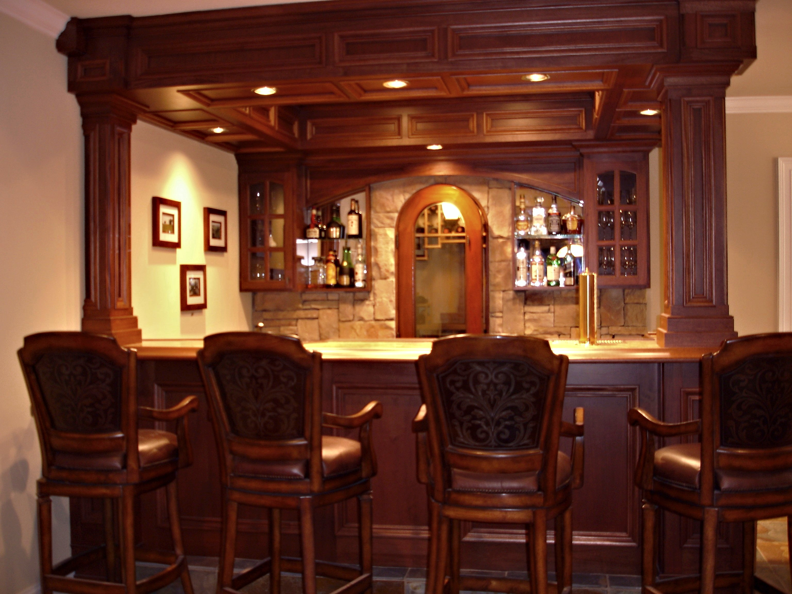 How to build a custom residential bar keystone for Custom build your home