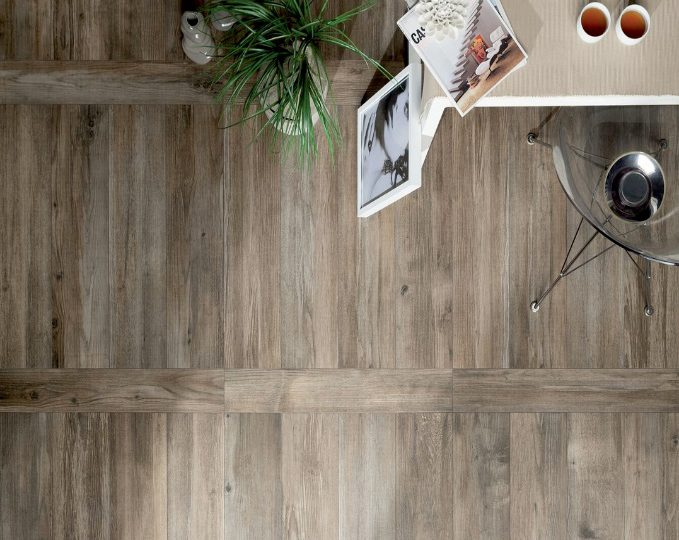 Porcelain Tile with Wood Finish